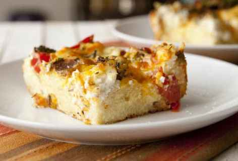 Tomato and Broccoli Strata