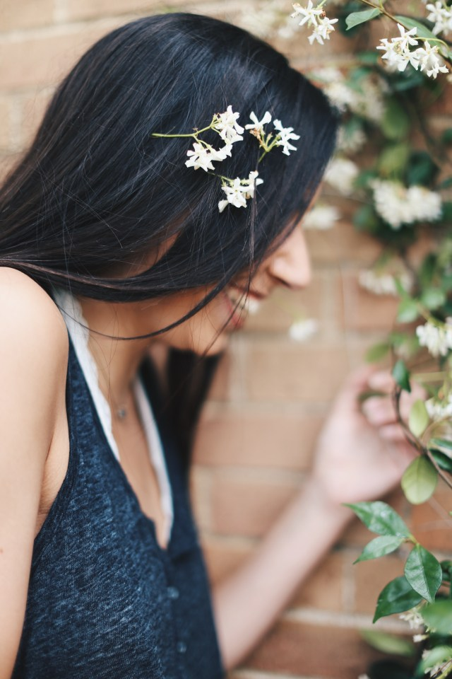 flowers in the hair