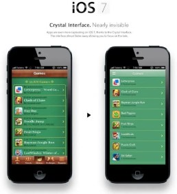 iOS 7 Game Center Konzept