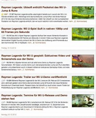 Rayman Legends News Videogameszone.de, Screenshot vom 1.1.2013