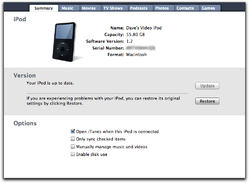 Apple iTunes / iPod: Restore iPod to Factory Settings