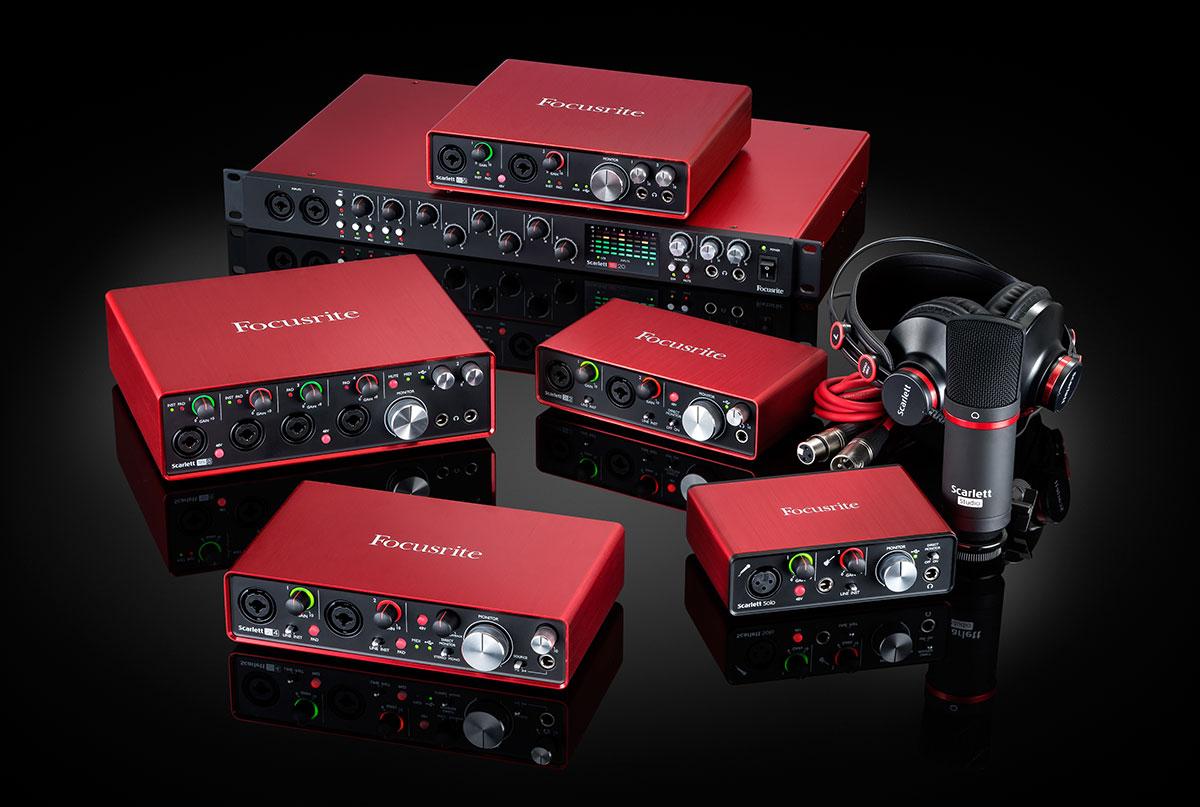 Focusrite reveals Scarlett second gen USB audio interfaces
