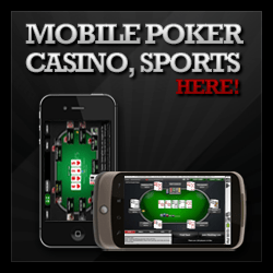 mobile poker, mobile casino, and sportsbooks