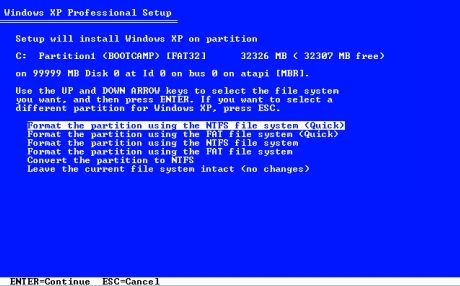 boot-camp-windows-xp-partition-formatting