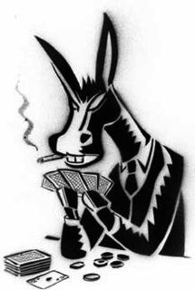 Smoking Donkey with Poker Cards