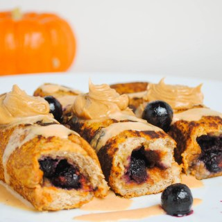 Blueberry Pumpkin French Toast Rollups