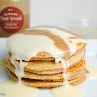 Gingerbread Cheesecake Protein Pancakes
