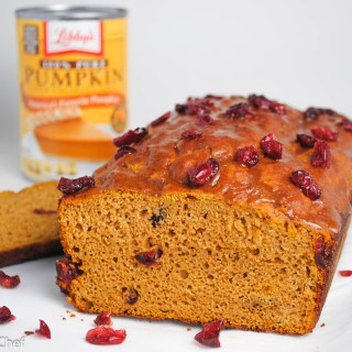 Pumpkin Cranberry Protein Loaf