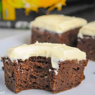 Banana Cream Protein Brownies