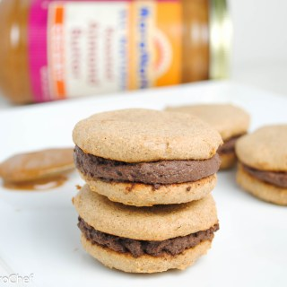 Chocolate Almond Protein Sandwich Cookies