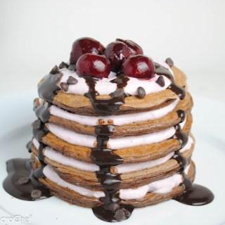 Chocolate Cherry Protein Pancakes
