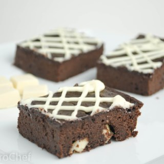 White Chocolate Protein Brownies