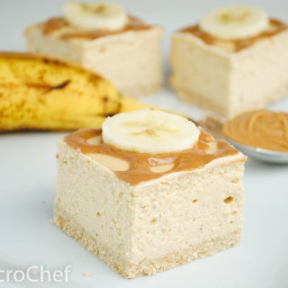 Peanut Butter Banana Protein Cheesecake Squares