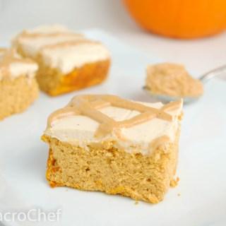 Pumpkin Peanut Butter Protein cake Bars
