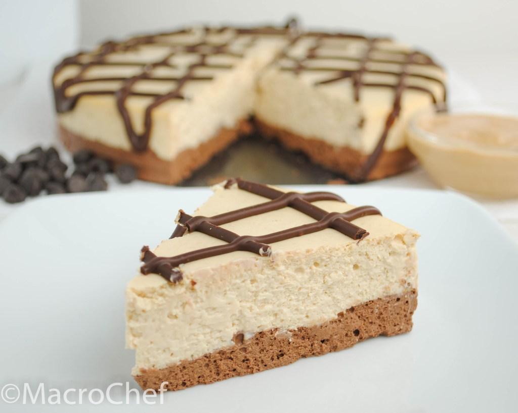 Chocolate Peanut Butter Protein Cheesecake | MacroChef