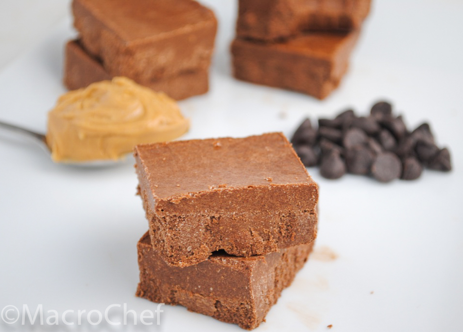 Chocolate Peanut Butter Protein Fudge