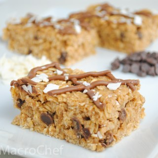 Coconut Chocolate Chip Protein Bars (No Bake)