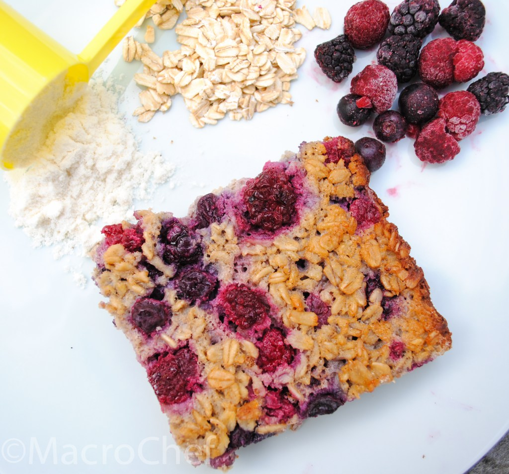 Berry Protein Baked Oatmeal