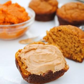 Pumpkin Peanut Butter Protein Muffins