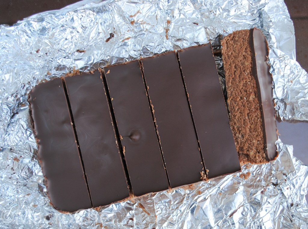 Chocolate Peanut Butter No-Bake Protein Bars