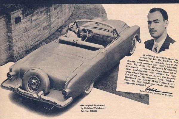 1952 Packard Pan-American with designer Richard Arbib
