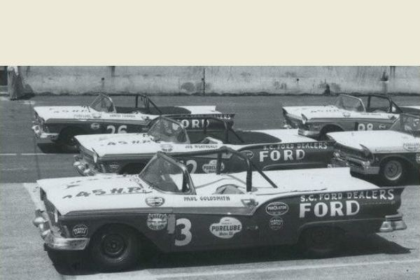 Front row Darlington convertible race 1957