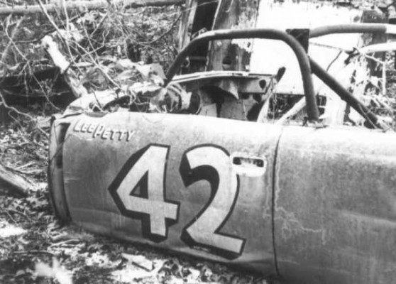 Lee Petty 42 abandoned race car