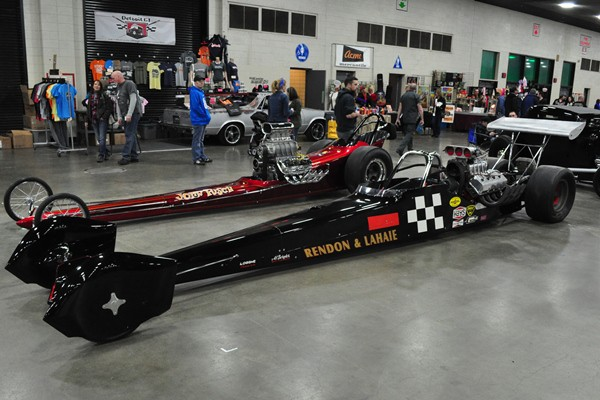 Pancho Rendon and Dick LaHaie vintage Top Fuel dragster