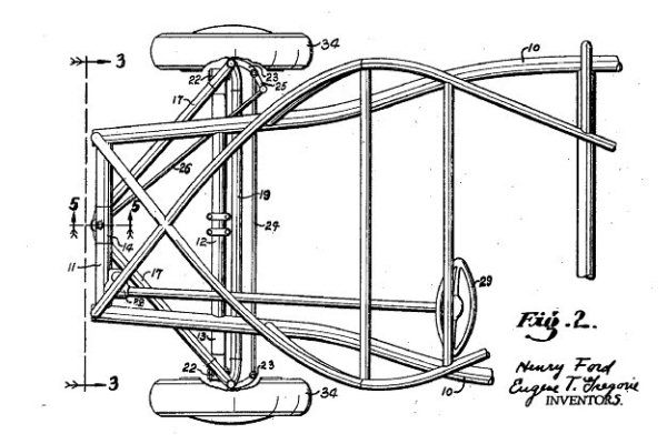 Ford soybean car Fig 2 patent 2,269,452