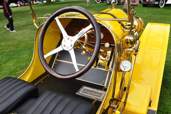 1911 Oldsmobile Autocrat Speedster Bill and Barbara Parfet dash