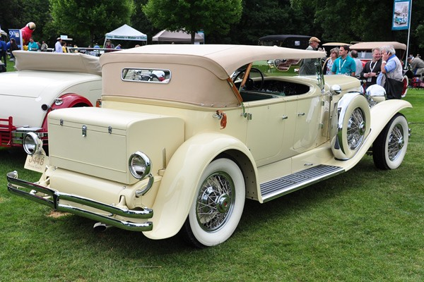1931 Duesenberg Derham Tourster Joseph and Margie Cassini, III rear