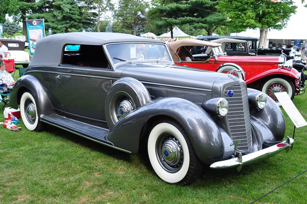 1936 Lincoln Brunn Convertible Victoria Marsh Belden Jr.