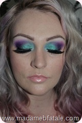 aqua purple eye makeup