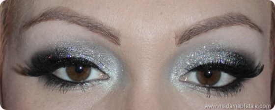 black silver glitter eye makeup