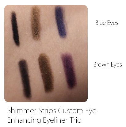 Shimmer Strips Custom Eye Enhancing Eyeliner Trio swatches