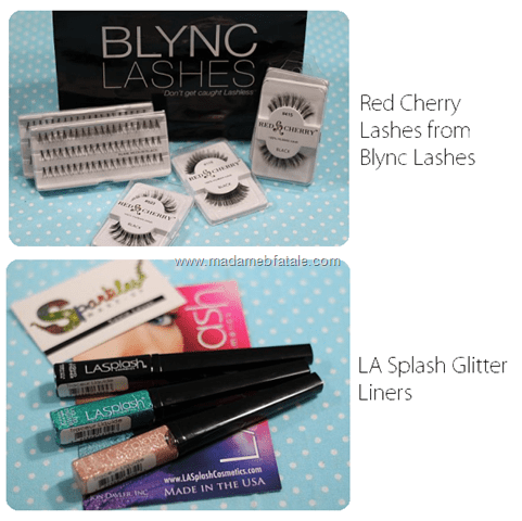 red cherry blync lashes la splash liners