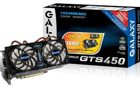 Galaxy GeForce GTS 450 Hall of Fame! con GPU a 1GHZ