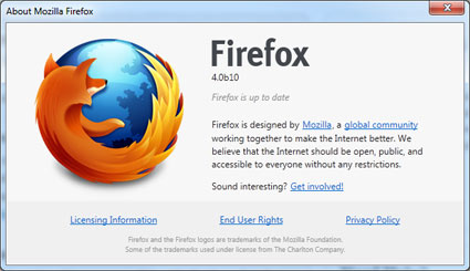 Firefox 4.0 Beta 10 disponible, Beta 11 incoming…