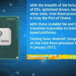 Intel Atom E600-series compatible con Android para el 2012