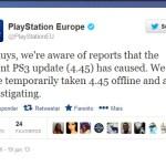 Cuidado con la última actualización de PS3! (4.45)