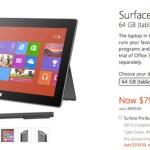 Microsoft recorta en $ 100 dólares el precio de la Surface Pro de 64GB y 128GB