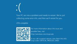 La Pantalla Azul de la Muerte (BSOD) ahora tendrá un Código QR