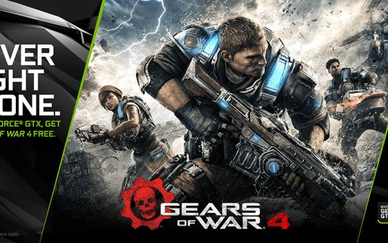 !Gears of War 4 Gratis! por la compra de una GeForce GTX 1080/1070