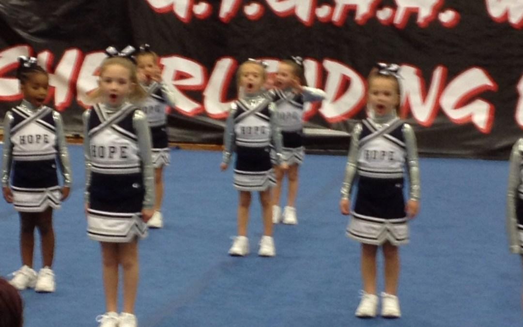 Cheer dress rehearsal