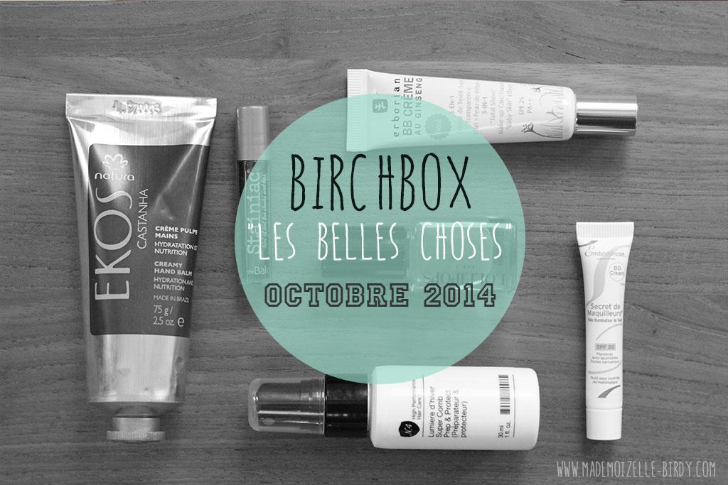 Ma Birchbox d'octobre de folie