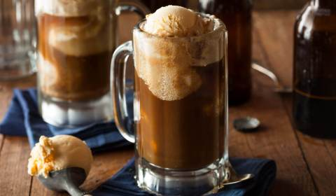 Caramel Coffee Ice Cream Float