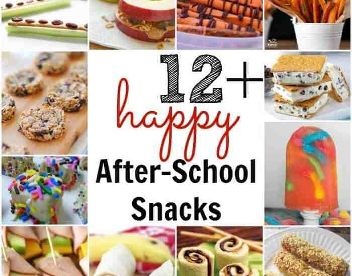 12+ HAPPY After-School Snacks