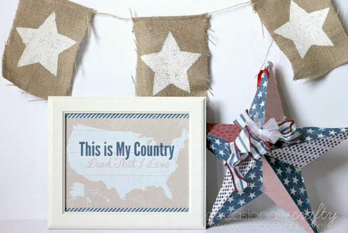 4th of July Printable Sign
