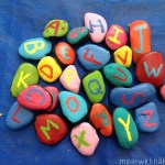 Painted Alphabet Rock Magnets {DIY}