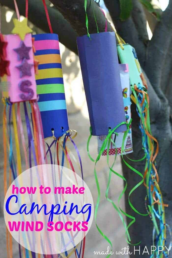 Camping Kids Crafts Paper Windsocks Made With Happy